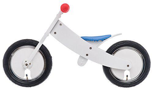 Bikestar 12 Inch (30.5cm) Kids Balance Bike / Kids Running Bike – Wooden – White