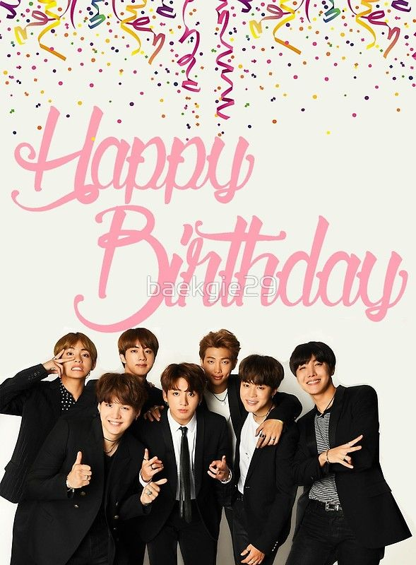 «BTS Birthday Card» de baekgie29