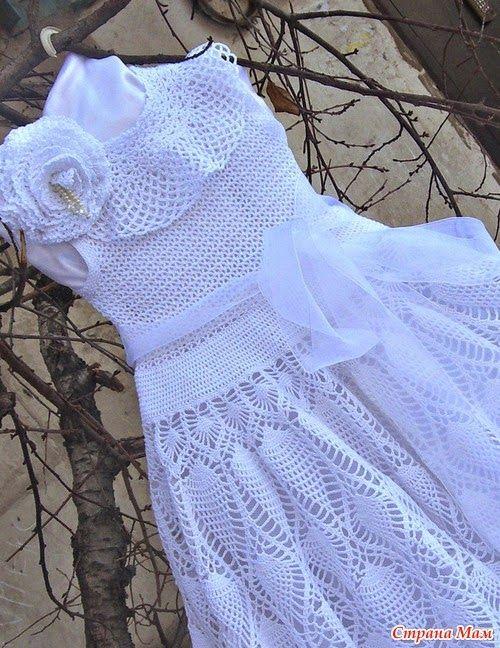 Dy Crochê!: Vestido infantil,com gráfico(achei na net).