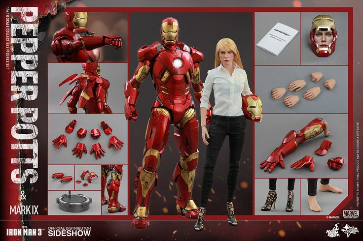 Pepper Potts and Iron Man Mark IX Sixth-Scale Figures