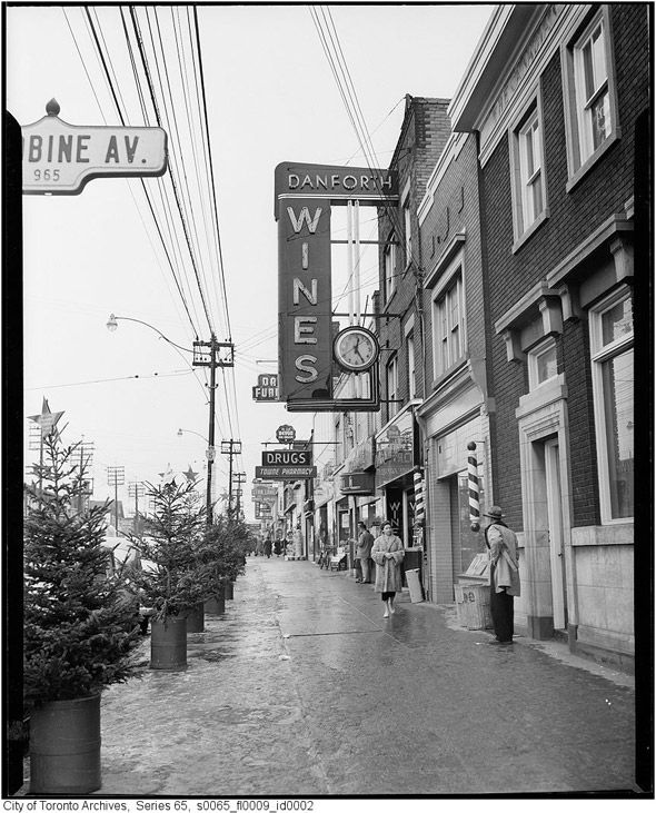 Danforth Avenue & Woodbine Ave in the 1950s. So cool.