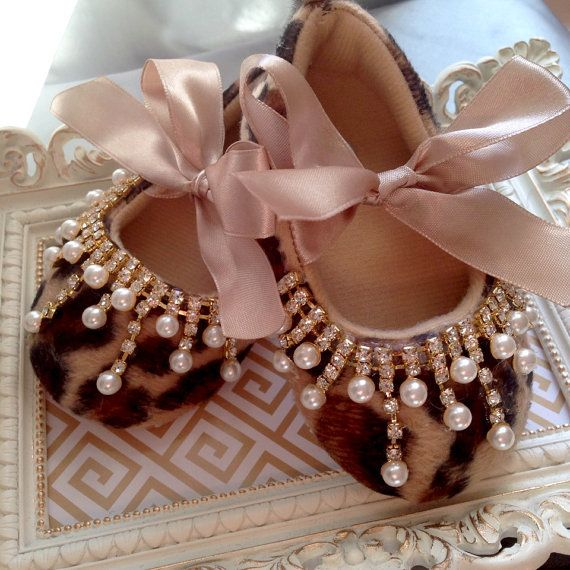 Luxury Leopard Baby Girl Shoes by babyScarlettBoutique on Etsy, $29.99