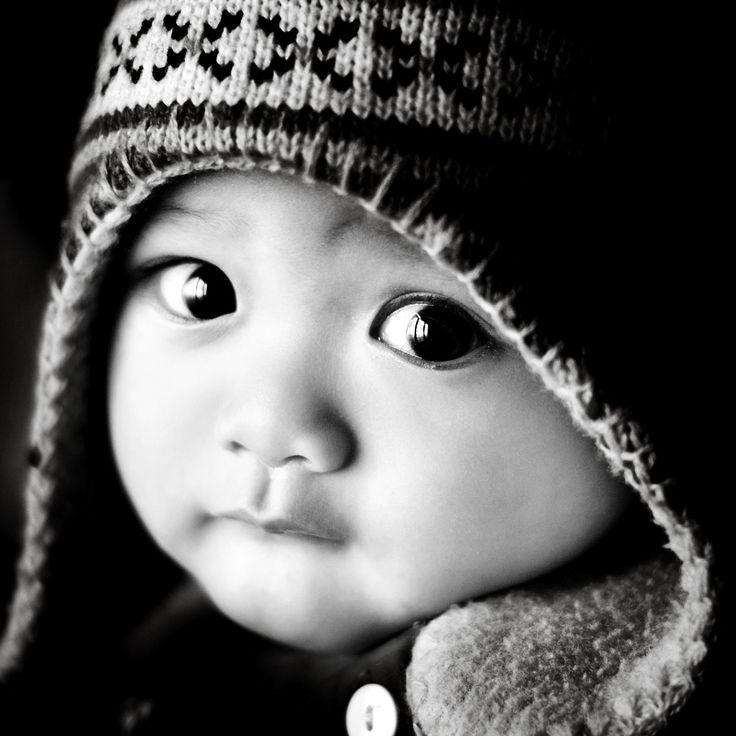 Cute Asian Baby Eyes