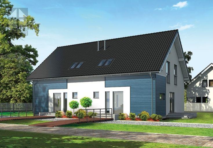 Doppelhäuser Danwood Partner 117 || #doppelhauser || http://www.danwood.de/hauser/doppelhauser/partner-117