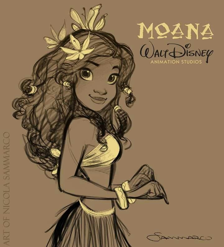 Moana concept art By nicola sammarco
