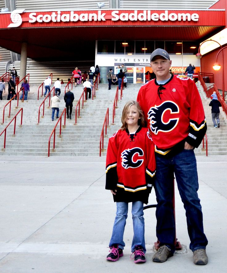 """Ten-year-old Madi Pott has been going to hockey games with her dad ever since she was born. They are proud Calgary Flames fans. """"Even if we didn't live in Calgary, we would still support the Flames.""""  #YYCFaces #YYC #Calgary #AB (Photograph by Melanie Walsh)"""