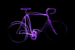 fototapeta_rower świetlny