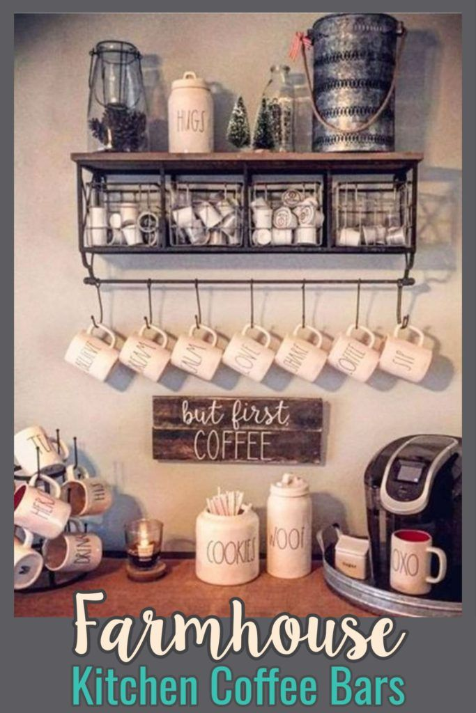 Farmhouse Coffee Station Ideas Farm Style Coffee Bar Ideas Pictures For Your Home Coffee Bar Home Diy Coffee Station Kitchen Bar Design