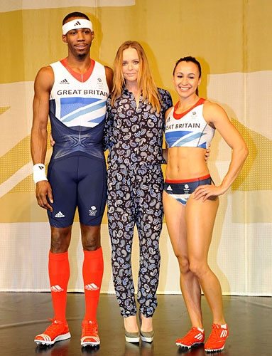 #Olympics 2012 Designer Uniforms: #StellaMcCartney collaborated with #Adidas on Great Britain's Olympic uniforms, which feature a contemporary take on the British flag.