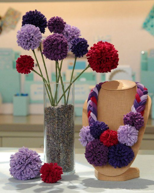 T-Shirt Yarn Pom-Poms | Step-by-Step | DIY Craft How To's and Instructions| Martha Stewart