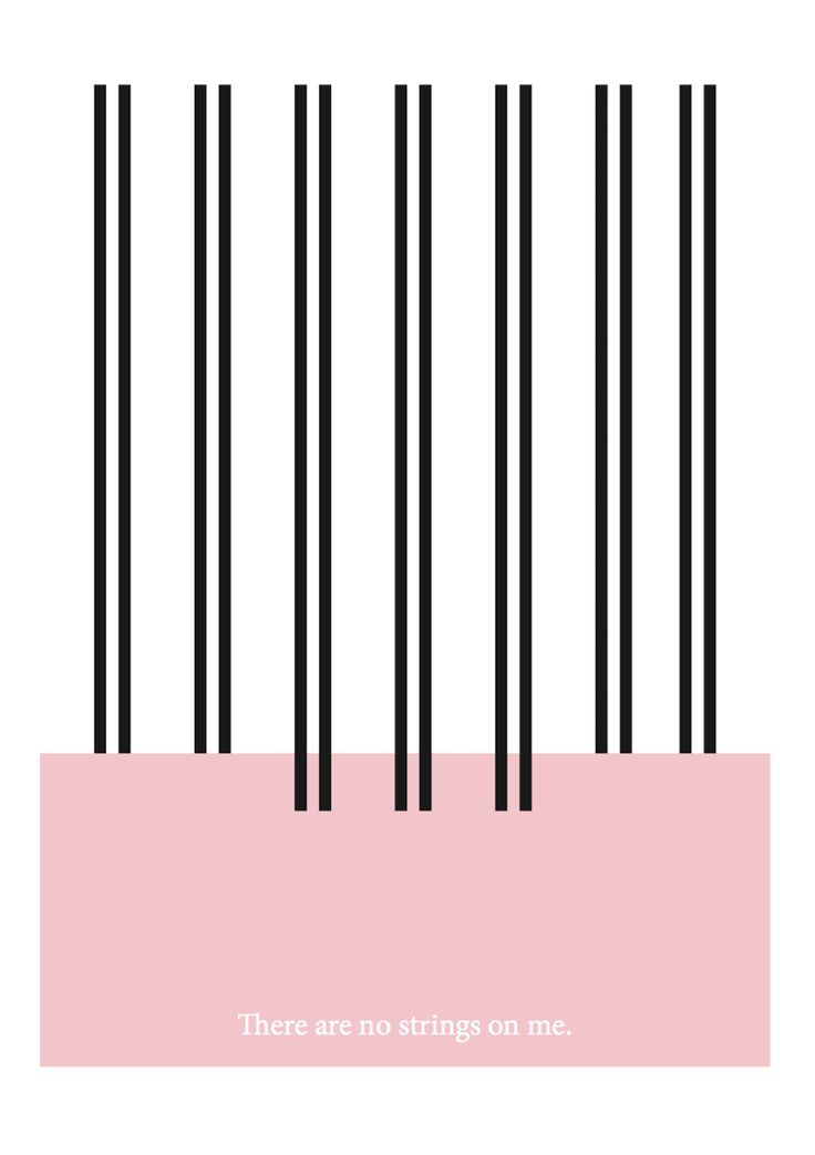 """""""There are no strings on me."""" #black #prints #white #pink #quote #stripes #contagiousdesignz"""