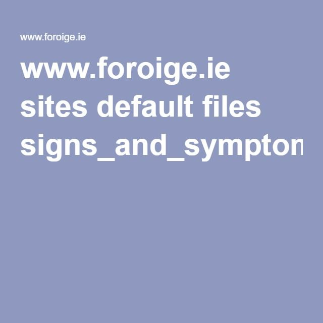 www.foroige.ie sites default files signs_and_symptoms_of_child_abuse.pdf