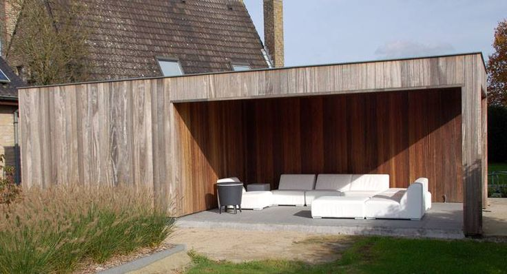 25 beste idee n over tuinhuizen op pinterest for Ingebouwd zwembad zelf maken