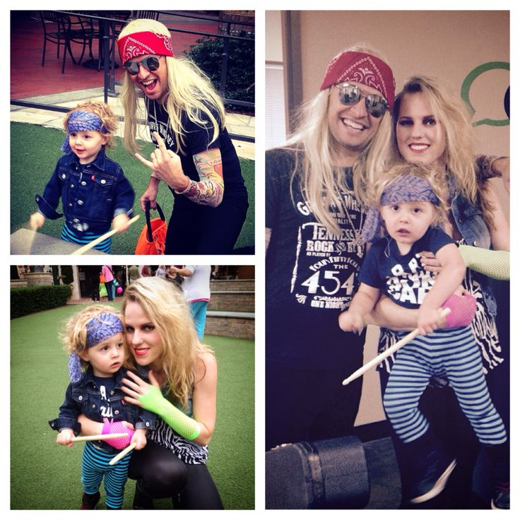 80s rock band family halloween costume easy cheap fun diy theme - 80s Rocker Halloween Costume