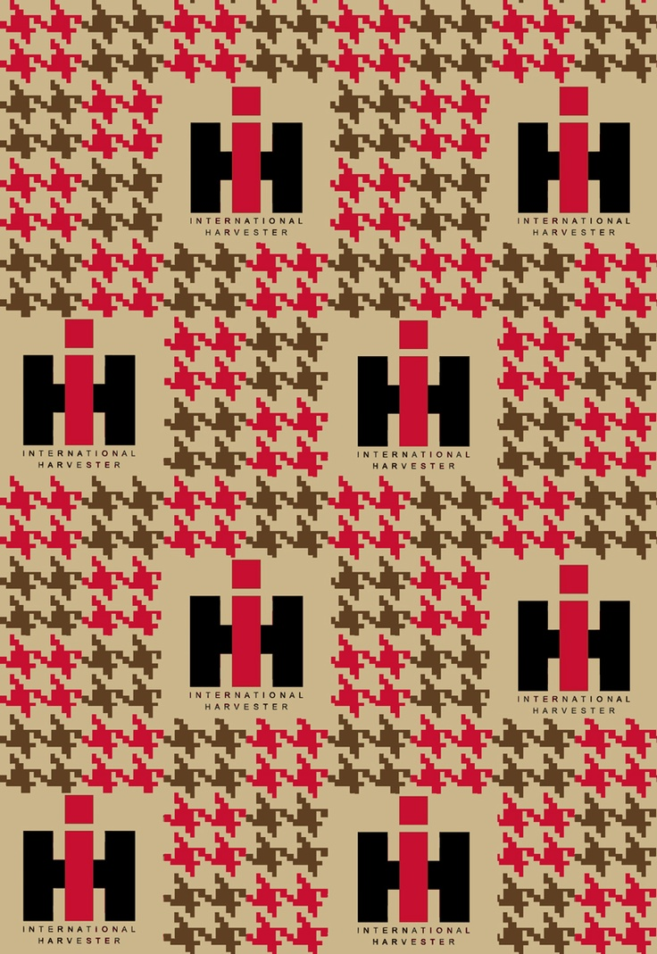 Ih Logo Houndstooth Red This Fabric Looks Vintage I Like