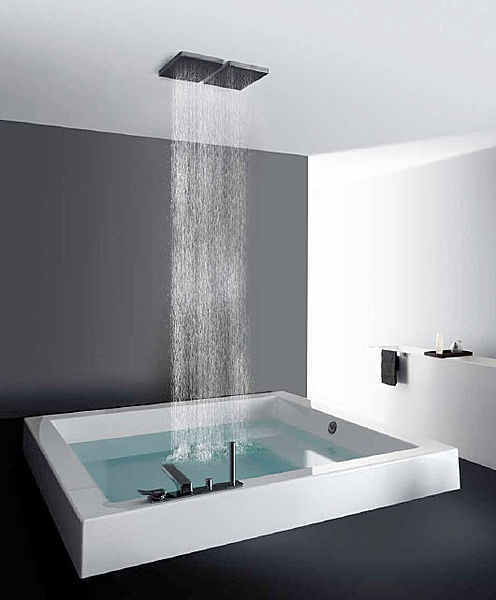 Built In Square Bath Tub Grande Quadra Step Kos