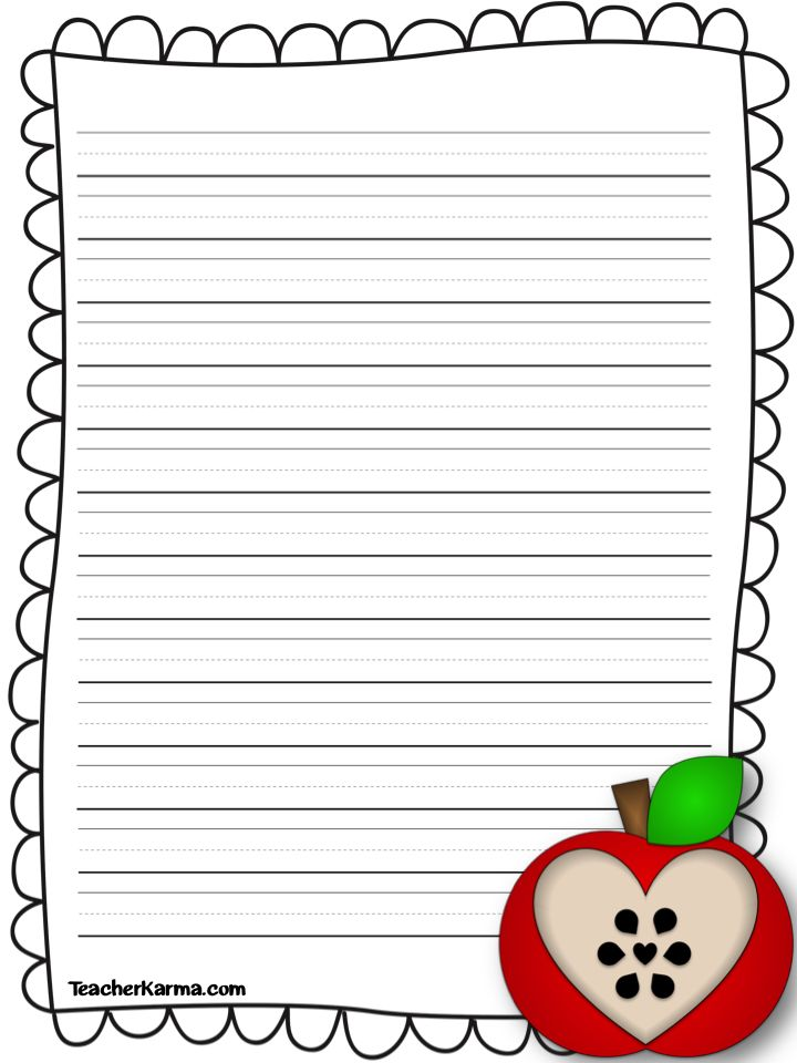 Apple writing activities for first grade