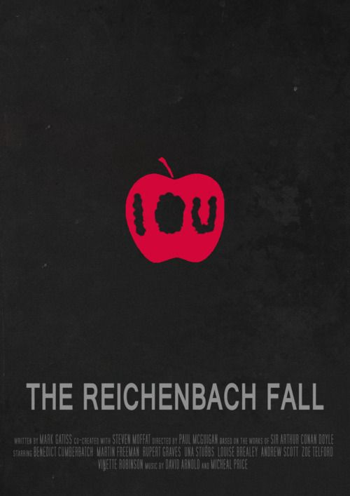 """""""The Reichenbach Fall"""" just finished watching it. I can't stop crying. Watch it."""