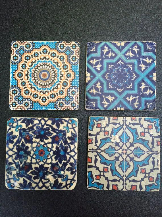 Moroccan Tile Coasters By Amybgoods On Etsy Moroccandecoration