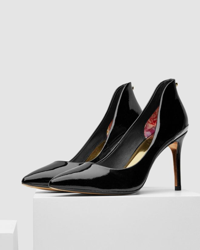Pointed leather courts - Black | Shoes | Ted Baker