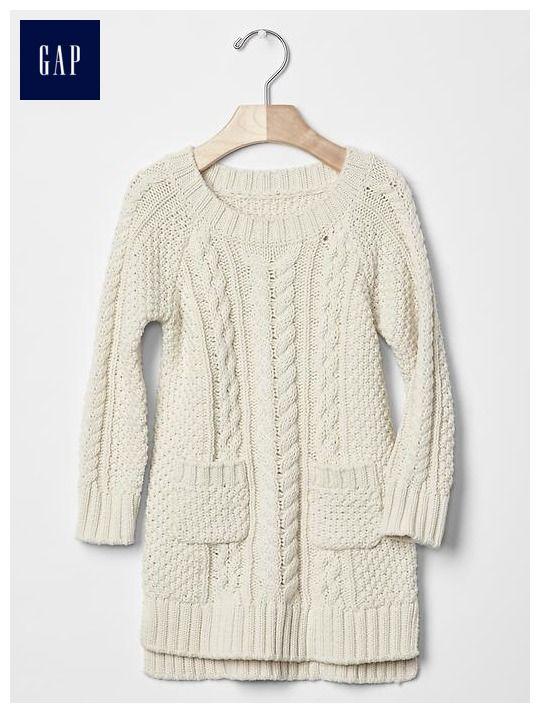 liv - Pocket cable sweater dress