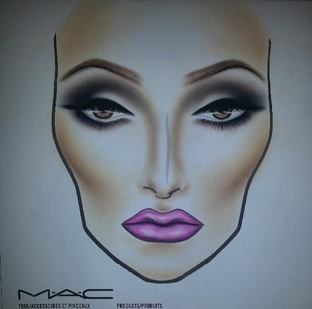 How To Draw Makeup Face Charts Makeup Vidalondon