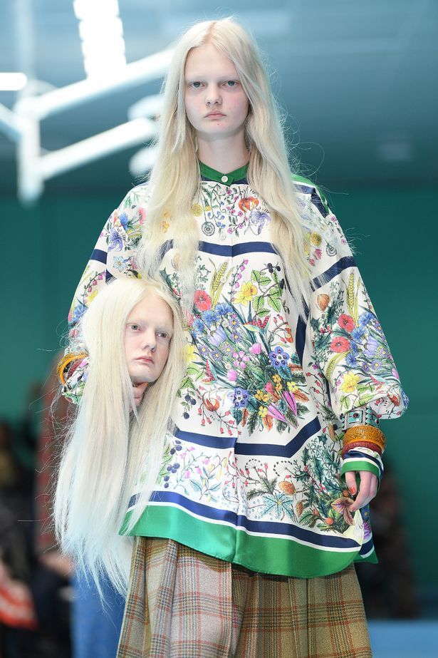 af581a0dc8c65 Gucci send models down the runway with SEVERED heads at Milan ...