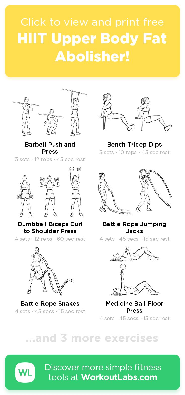 Pin on Free Workouts Try & Print