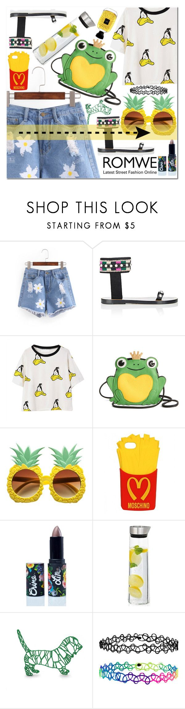 """""""Romwe Shorts ♥"""" by av-anul ❤ liked on Polyvore featuring Isabel Marant, Moschino, Lime Crime, blomus, WALL, Accessorize, Atelier Des Ors, romwe and avanul"""
