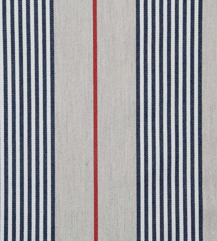 Design Classics | Nautical | Vintage Stripe 2 Fabric by Ian Mankin | Jane Clayton