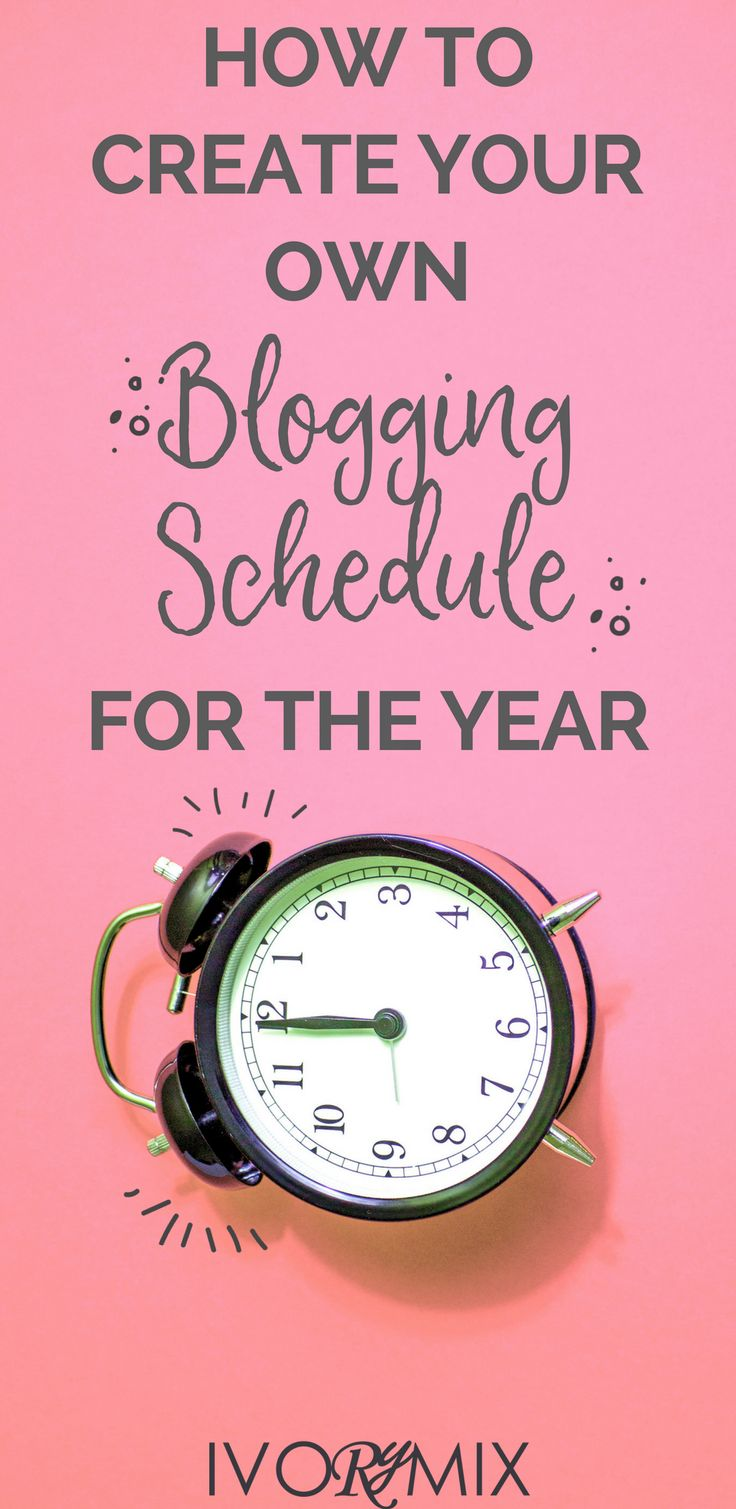 How to create your own blogging schedule, content marketing calenar or editorial calendar for the year