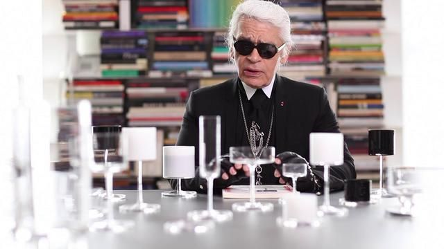 Genius genius .. a video about Karl Lagerfeld collaboration with Orrefors .. amazing.  I dream for every item in this collection ... breathtakingly beautiful.