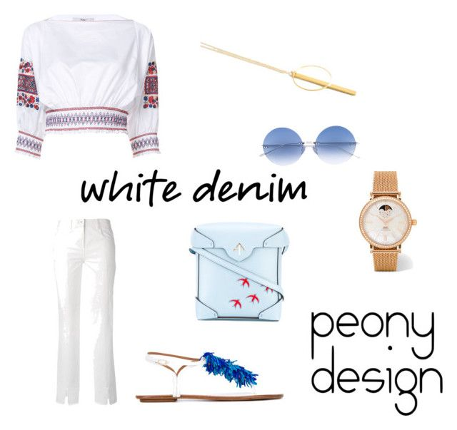 Peony Design by teri-peony on Polyvore featuring TIBI, Courrèges, Aquazzura, MANU Atelier and IWC Schaffhausen