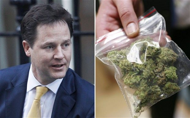 "Drugs war is lost, says Nick Clegg in direct challenge to Cameron  Nick Clegg has declared Britain is ""losing the war on drugs on an industrial scale"" in a direct challenge to the Prime Minister."
