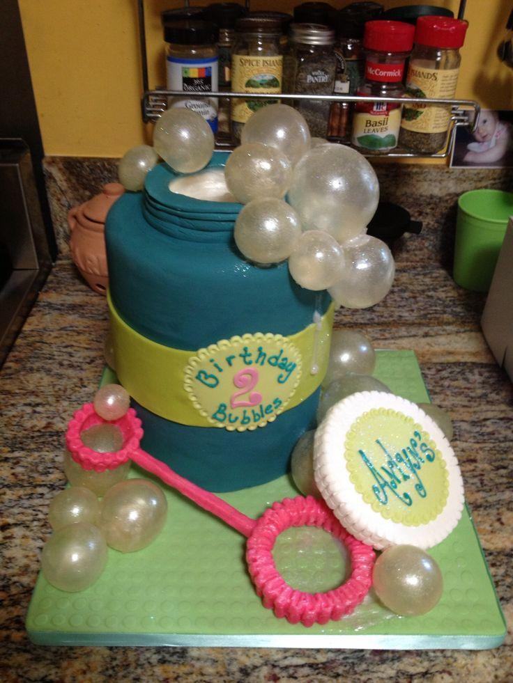 "Bubble Birthday - Bubble Birthday with gelatin bubbles, 6"" double barrel"