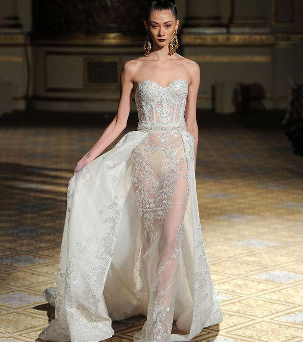 Robe de mariée 2018 - Robe avec jupon amovible, Berta