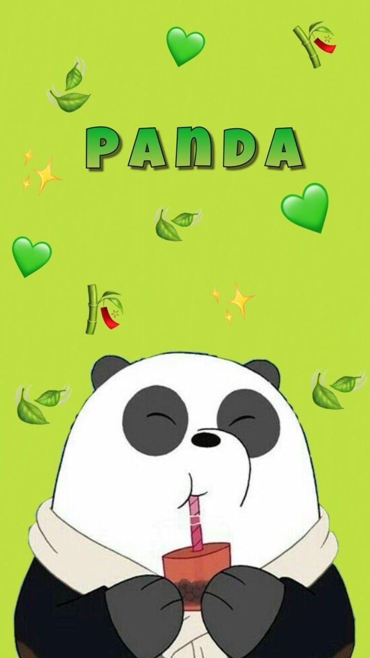 Imagem De Eat Panda And Green We Bare Bears Wallpapers Bear Wallpaper Panda Wallpapers