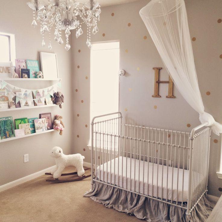 Harpers Nursery- Updated! - Veronikas Blushing, polka dot wall
