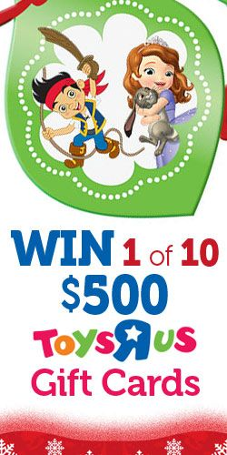 #Win 1 of 10 $500 #ToysRUs #GiftCards #Toys #Competition #Contest #Giveaway #Sweepstakes