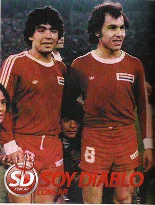 Maradona y Bochini
