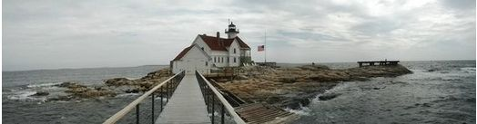 Panoramic Sept. 11th flag at half mast (Travis D 2014). This photo of The Inn at Cuckolds Lighthouse is courtesy of TripAdvisor.