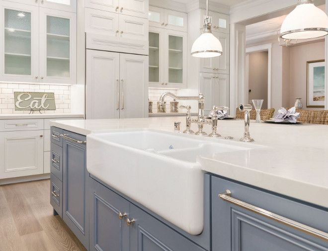 Kitchen island quartz countertop. Kitchen island quartz countertop and farmhouse sink. Kitchen island quartz countertop is New Carrera Quartz Countertops #Kitchenislandquartz #Kitchenisland #quartz #countertop #NewCarreraQuartz #Countertops