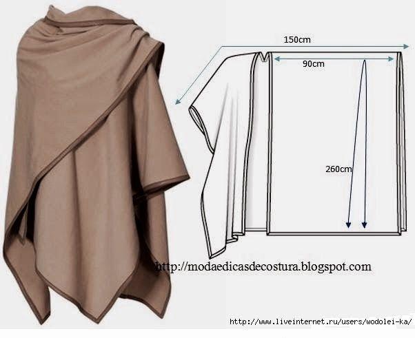 Sew an elegant ruana