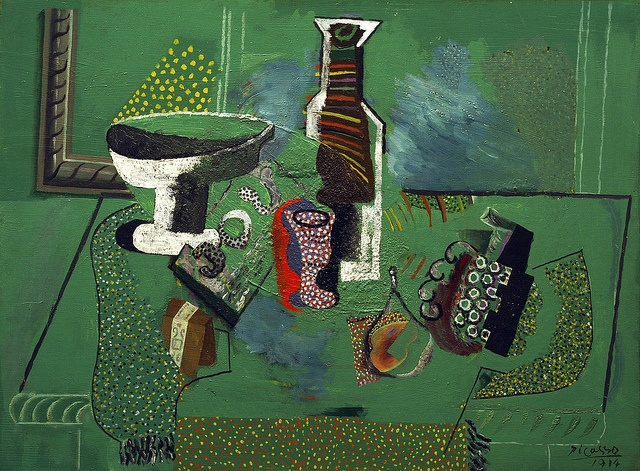 Pablo Picasso - Green Still Life [1914] http://www.flickr.com/photos/gandalfsgallery/6963822423/in/contacts/