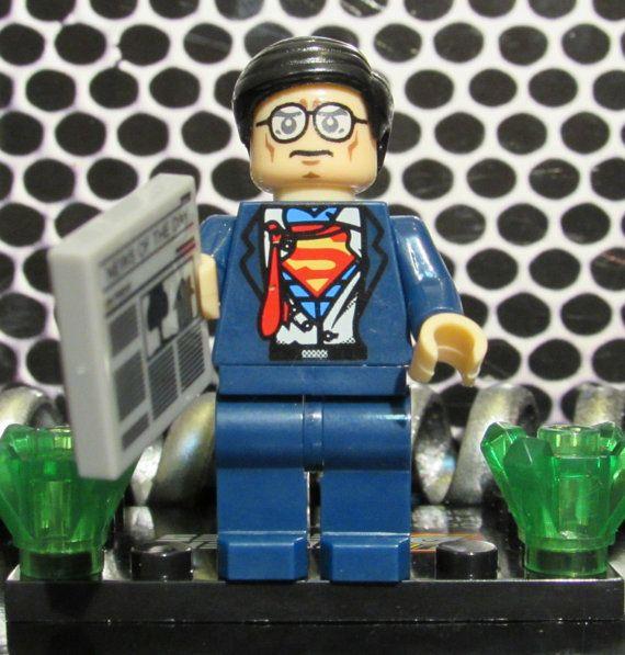 Custom CLARK KENT SUPERMAN figurine w/Lego-taille journal Justice Ligue des Super héros, jouet de construction