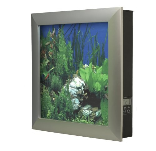 $329.95-$329.95 Aquavista 500 is a wall mounted aquarium that hangs like a painting.  Extremely low maintenance and easy to set up, the 6.6 gallon Aquavista 500 only requires 10 minutes of maintenance per month.  The unit can be further customized with different picture frames and customizable backgrounds that are all interchangeable.  The AV500 comes pre-assembled with advanced filtration, heate ...