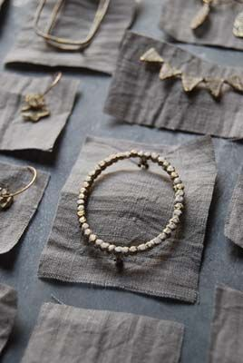 Simple but nice contrasting background for jewelry at a craft fair
