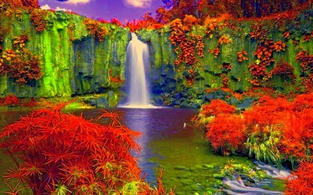 Colorful Waterfall | Color Therapy | Pinterest | Beautiful ...
