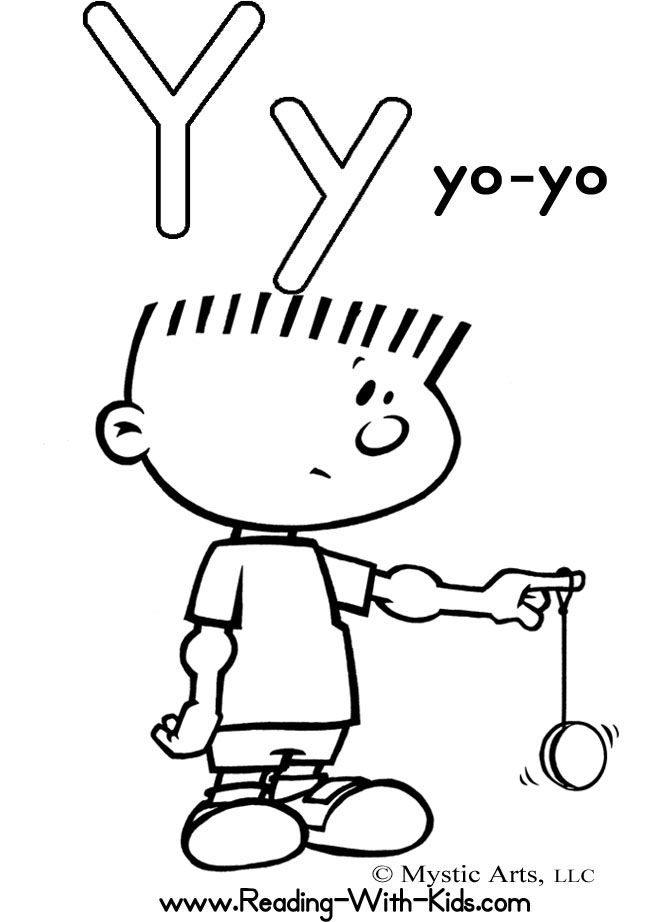 Letter Y Coloring Sheet Letters Alphabet ColoringSheets