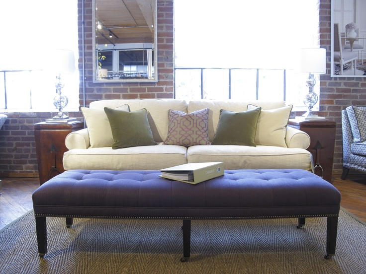 Thibaut Fine Furniture Showroom In High Point, Located At Historic Market  Square. Seen Here: Belvedere Sofa In Nadia Trellis In Straw; Westover  Ottoman In ...